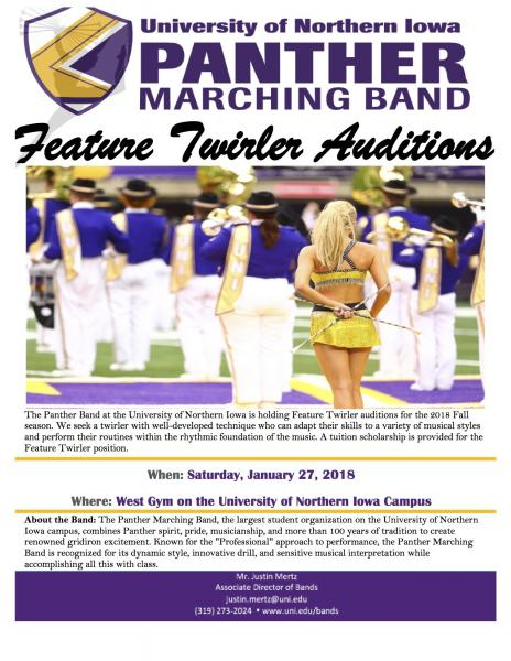 PMB Feature Twirler Information Flyer