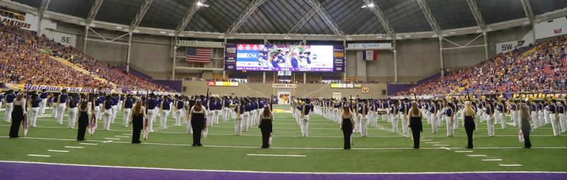Panther Marching Band at Halftime in the UNI-Dome